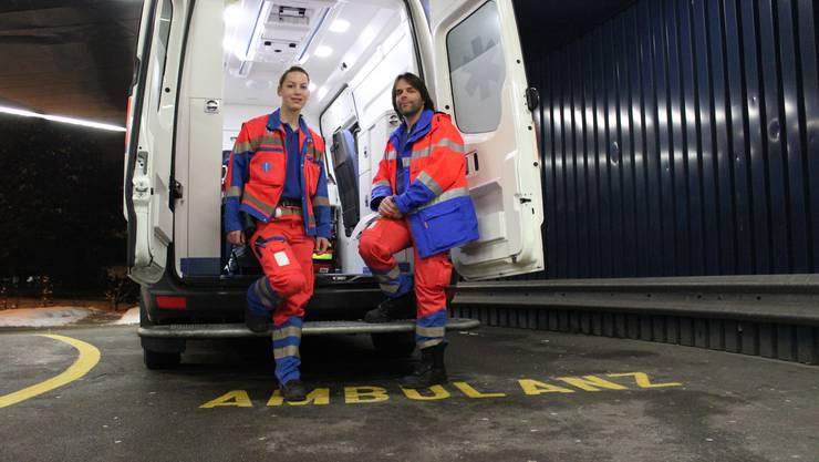 Das Rettungssanitäter-Team