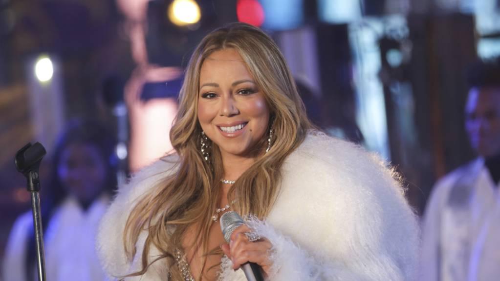 Mariah Carey bei einer Silvesterfeier auf dem Times Square
