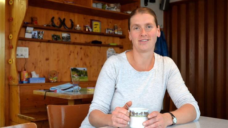 Gestern nahm die neue Wirtin Marianne Weber den Betrieb im Bergrestaurant auf.
