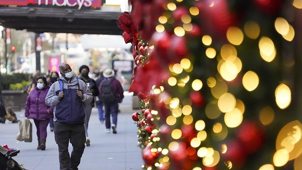 US-Gesundheitsbehörde rät von Reisen auch zu Weihnachten ab