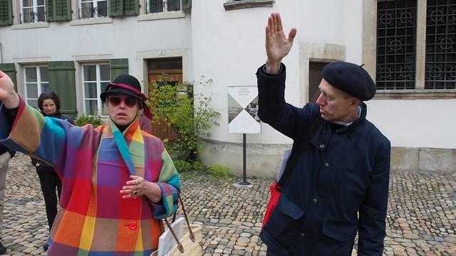 Intermezzo: Stadtführer Felix Müller und die welsche Touristin.