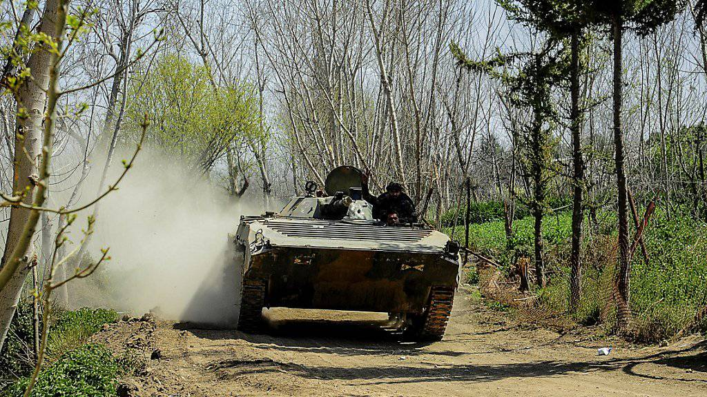 Syrische Armee dringt bis Ort in Ost-Ghuta vor
