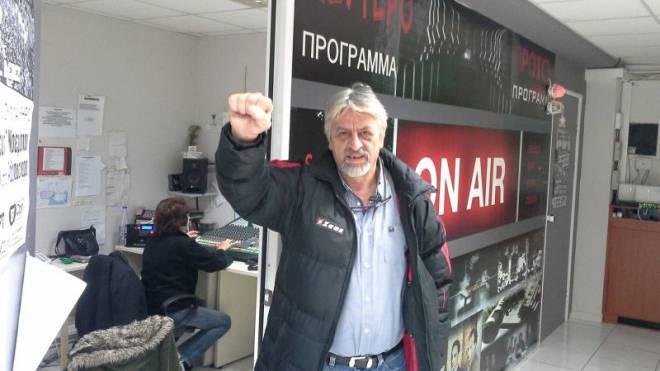 «Blut, Schweiss und Tränen»: Panagiotis Kalfagiannis von der Gewerkschaft der TV- und Radio-Journalisten hat sich durchgesetzt. Foto: Ferry Batzoglou