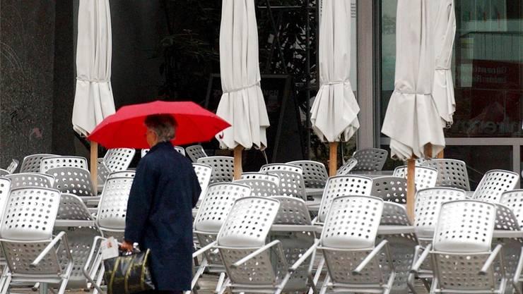 Bei schlechtem Wetter ist fehlende Kundschaft keine Seltenheit.