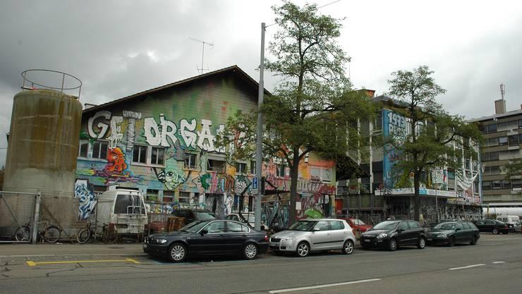 Das besetzte Koch-Areal in Zürich Albisrieden, die aktuell grösste Hausbesetzung Zürichs.