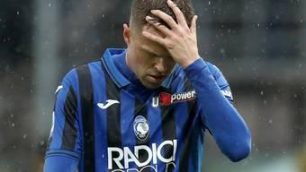 Enttäuschung bei Atalantas Josip Ilicic: Spiel gegen Cagliari verloren und vom Platz gestellt