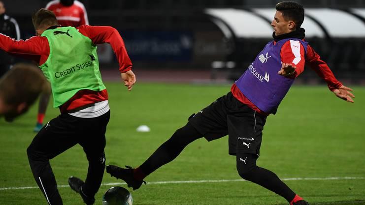 Fabian Schär während des Trainings mit der Nationalmannschaft.