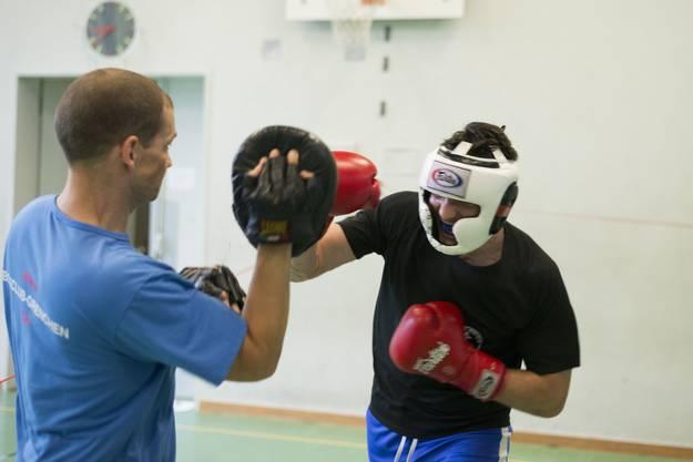 Schlagtrainig mit Wettkampftrainer Stefan Bernhard