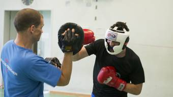 Mit Boxer Hugo Hémeray im Training