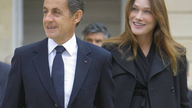 Erwarten in Kürze Nachwuchs: Nicolas Sarkozy und Carla Bruni-Sarkozy (Archiv)