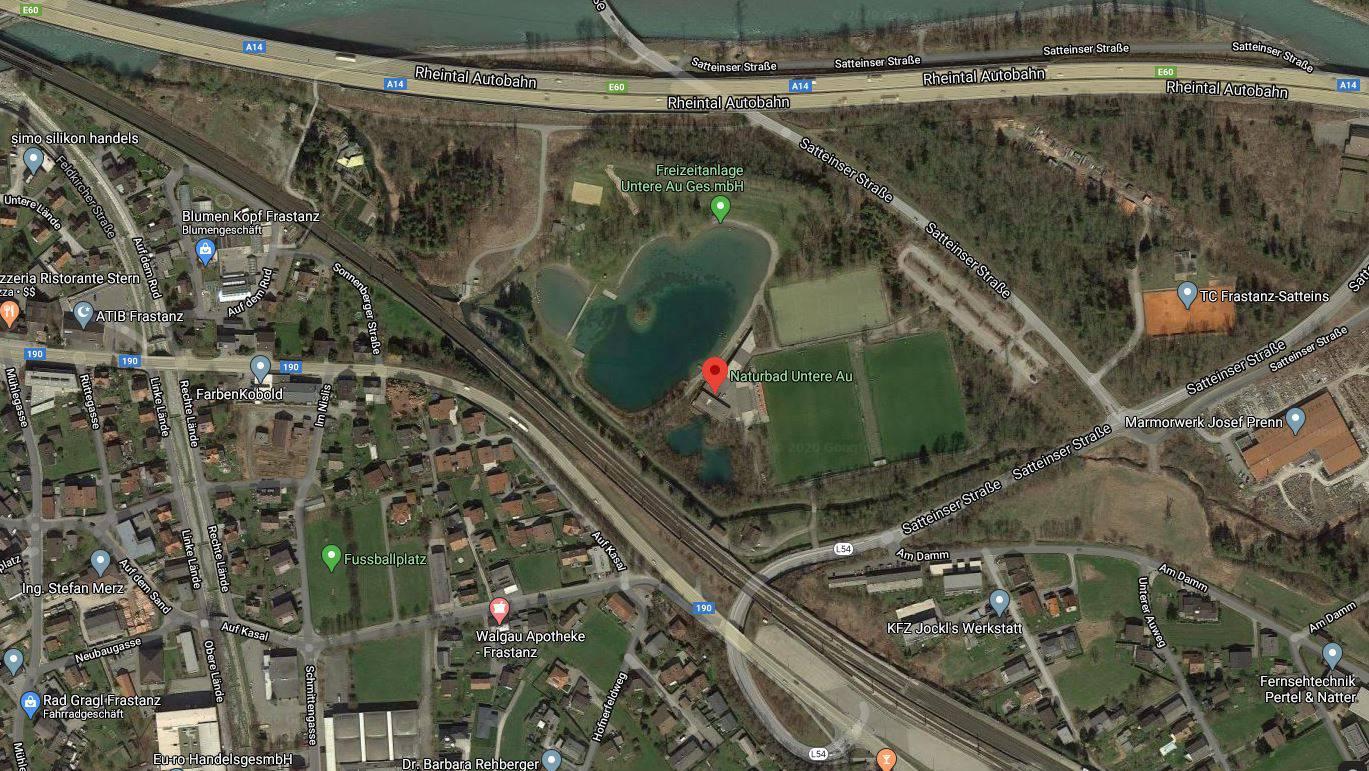 Der Badeunfall ereignete sich im Schwimmbad Untere Au in Frastanz.
