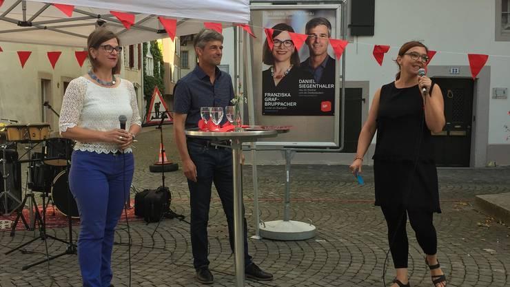 Franziska Zimmerli (r.) befragte Franziska Graf und Daniel Siegenthaler.