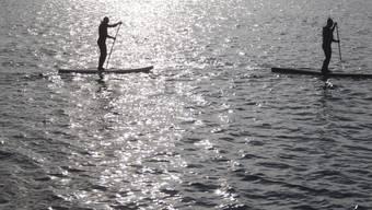 Auf dem See fehlen Hinweisschilder: Stand-Up-Paddler können unwissentlich zu nah an bedeutende Wasservogelgebiete paddeln. Ihre Silhouette ist weithin sichtbar. (Archivbild)