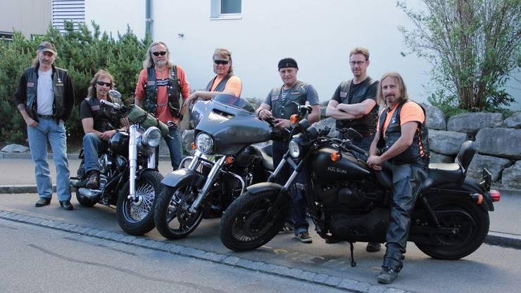 So fühlt sich ein Mitglied der MC Thors Swiss Limmattal wohl – auf der Harley und in Gesellschaft der anderen.