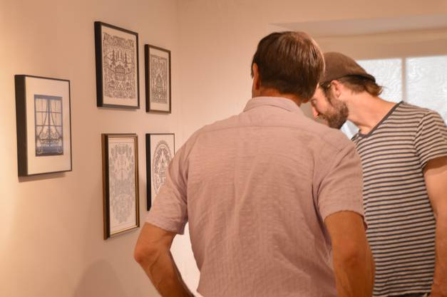 Impressionen von der Vernissage derFoto-Ausstellung zur Natur- und Kulturwoche unter dem Motto Landwirtschaft im Alten Gemeindehaus Wölflinswil.