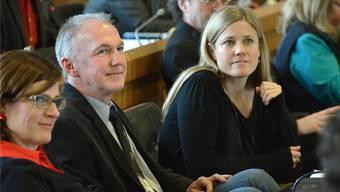 Gestern machten Jürg Wiedemann und Florence Brenzikofer im Landratssaal gute Miene zum bösen Spiel.