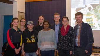 Das Organisationskomitee mit Natalie Gregor, Katharina Stäger, Raphael Kull, Dave Meier, Priyanka Kanesalingiam, Thomas Leitch-Frey, Karin Stoll und Thomas Burkard (von links). Verena Schmidtke