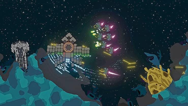 In «Nimbatus» steuert der Spieler eine selbst gebaute Drohne.