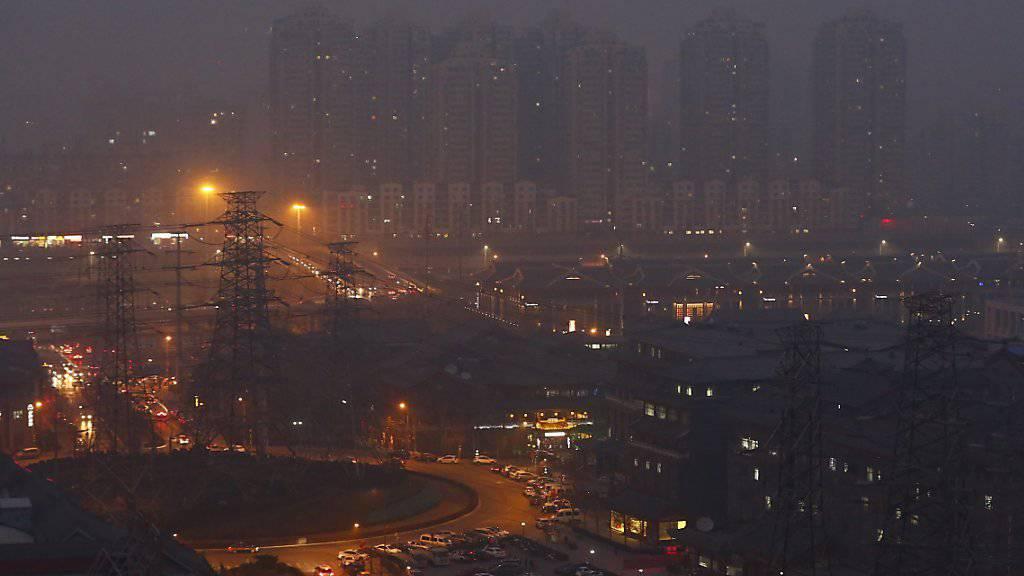 Smog-Alarm «Rot» für Peking
