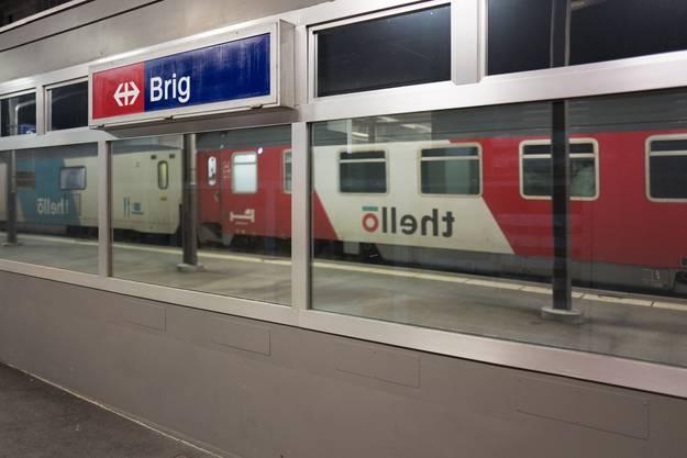 Der Nachtzug aus Venedig nach Paris trifft in Brig ein.