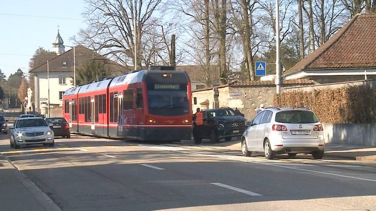 Zum Unfall kam es an der Einmündung der Grimmengasse in die Baselstrasse