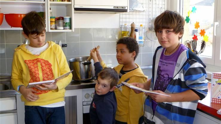 Die Kinder Auf Berg haben alle Rezepte auch selbst gekocht und degustiert.