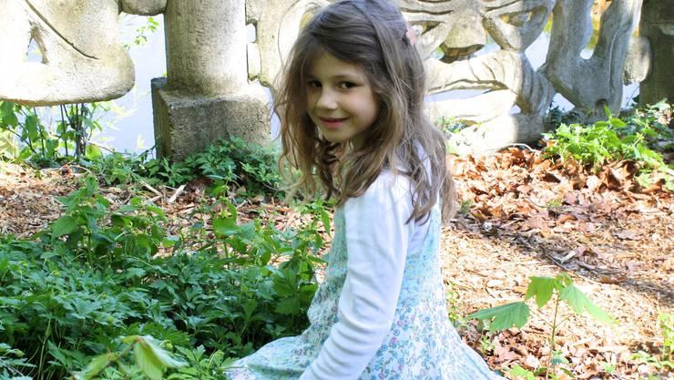 Die 6-jährige Jessica Klossner sucht vergebens.