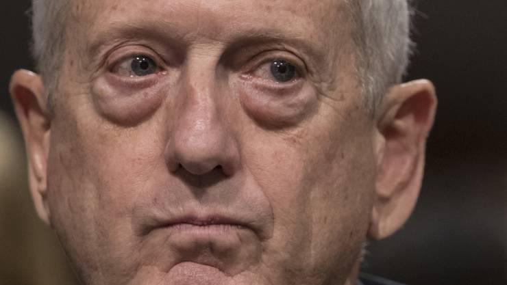 Da wurde er gerade US-Verteidigungsminister: James Mattis im Januar 2017 vor dem Senat in Washington.