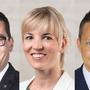 David Zuberbühler, Diana Gutjahr und Christian Imark. (Bilder: PD)