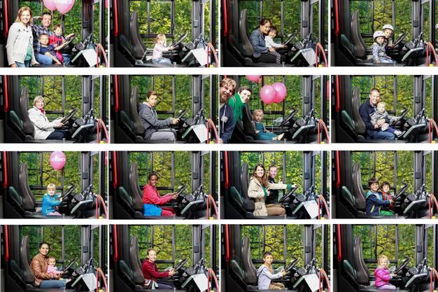 Lassen Sie sich im Cockpit des RVBW-Busses fotografieren