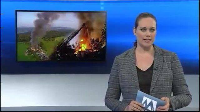 Grossbrand auf Bauernhof Gränichen