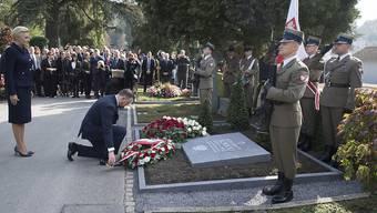 Der polnische Präsident Andrzej Duda ehrte am Dienstag den Holocaust-Retter Konstanty Rokicki.