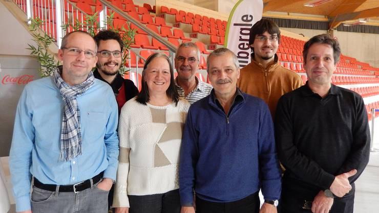 Der neue alte GLP-Vorstand (v.l.): Markus Kobel, Markus Knellwolf, Irene Froelicher, Adolf Gut, René Kühne, Florian Sarkar und Thomas Bollinger.