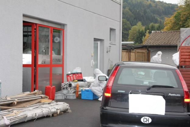 Der Tatort in Gränichen am Montag.