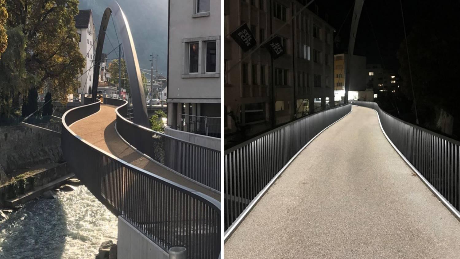 Die neue «Italienische Brücke» in Chur.