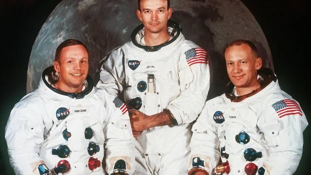 Die Besatzung von Apollo 11: Neil Armstrong, Michael Collins und Edwin Aldrin (v.l.n.r.)