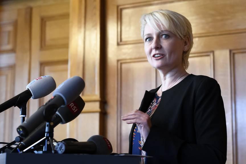 Im Namen des Büros des Nationalrats sprach Nationalratspräsidentin Isabelle Moret (FDP) am Freitag zu den Medien.