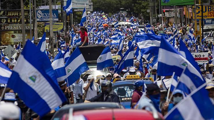 Die Opposition in Nicaragua hat Präsident Ortega angesichts der landesweiten Proteste gegen die Regierung ihre Gesprächsbereitschaft signalisiert. (Archivbild)
