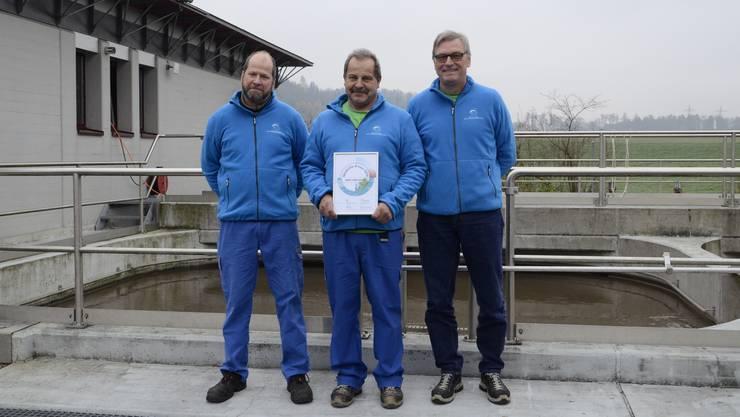 Guido Stutz, Bruno Zobrist und Stefan Irniger (v.l.) präsentieren ihren Award.