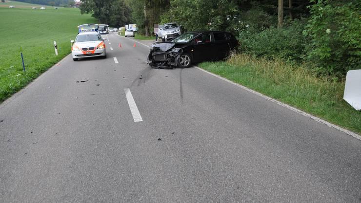 Am Samstagmittag fuhr ein 20-jähriger Autolenker auf der Stüsslingerstrasse in Richtung Erlinsbach.