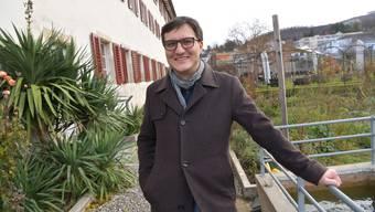 Daniel Urech im Garten des Klosters Dornach. Der Schwarzbube wird Kantonsratspräsident.