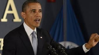 Obama bei seiner Rede bei der FEMA in Washington