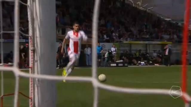 FC Aarau – FC Sion: Das entscheidende Tor durch Daniel Follonier in der 69. Minute.