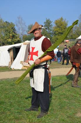 Ein Kreuzritter auf dem Weg zur Schlacht gegen die Wikinger.