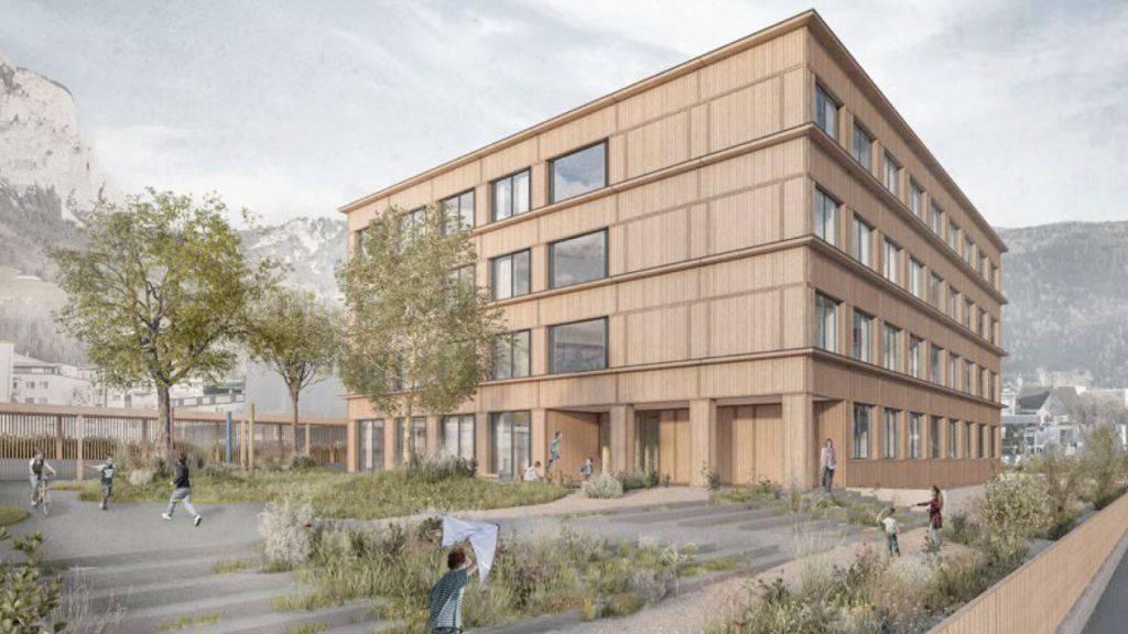 Das neue Heilpädagogische Zentrum Innerschwyz wird aus Holz gebaut.