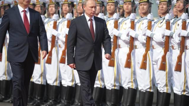 Putin und Xi eröffnen eine gemeinsame Militärübung