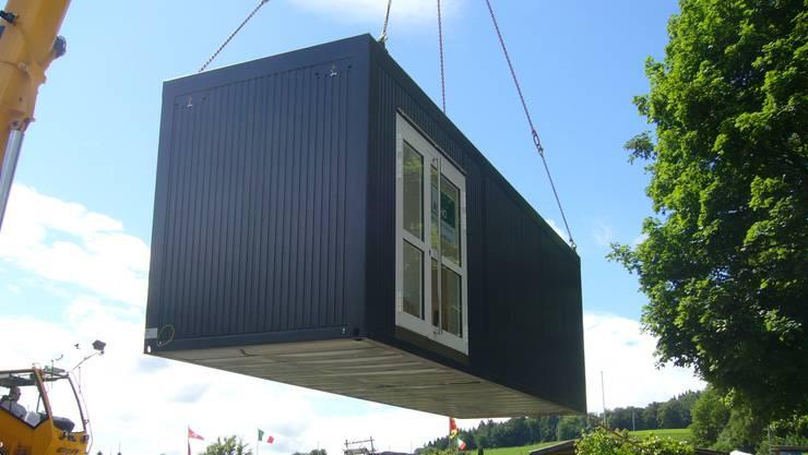 Die geplante Container-Anlage soll südlich der Mehrzweckanlage Steinmatt aufgestellt werden. (Symbolbild)