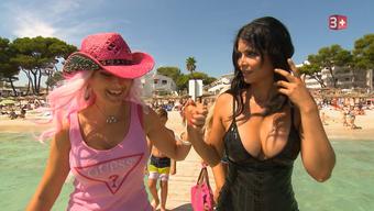 Cowgirl Isabel und Micaela Schäfer auf Mallorca beim Videodreh