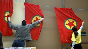 Vorbereitungen für ein Fest der PKK in Luzern. (Archiv)