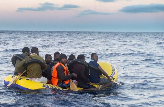 Flüchtlinge im Mittelmeer.